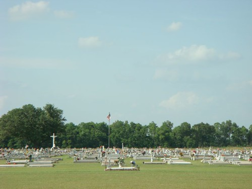 Even the cemeteries are spread out here!