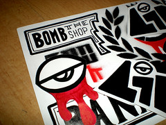 Link porject (Spain) (bombtheshop) Tags: stickers linkproject bombtheshop