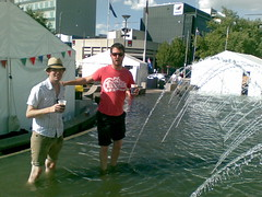beer, paddling in the fountain, fun times (Donnacadh & Lauzy) Tags: summer canberra nationalmulticulturalfestival