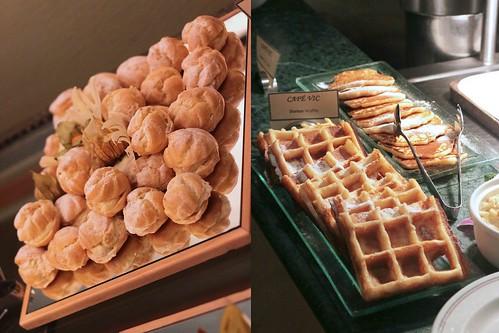 Durian puffs, waffles & pancakes