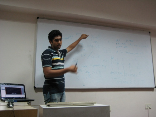 Ashok Gautham during his org-mode talk