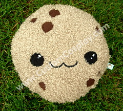 cookie (SomethingCute) Tags: cute fun toy happy big stuffed soft cookie hand sweet chocolate chibi fluffy plush pillow made biscuit softie kawaii indie plushie chip sweets applique embroidered stuffie crafted appliqued