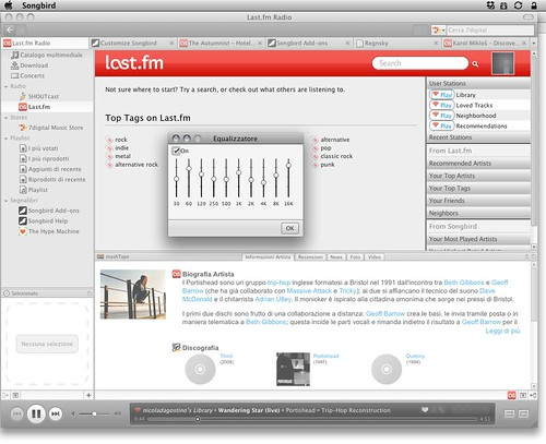 Songbird 1.2 - Last.fm and equalizer