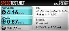Speedtest.net over Fonic 3g network.