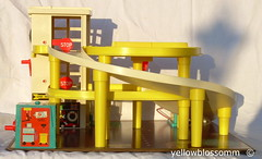 Fisher Price Parking Garage (yellowblossomm) Tags: old cars vintage toy lift bell parkinggarage elevator fisherprice