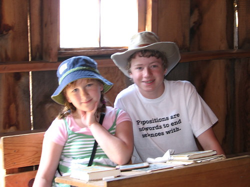 Erin and AJ in the Brewster Schoolhouse