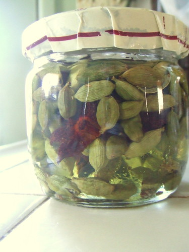 herbal oil--cardamom, anise and grapeseed oil