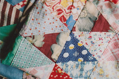 top (abbytrysagain) Tags: summer film home vintage quilt top fabrics