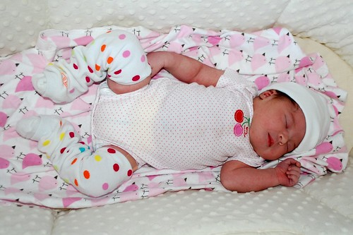 3 days old in her cute babylegs