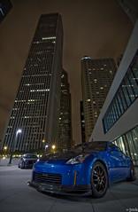 nightshoot2 (jmkiang) Tags: longexposure nightphotography chicago cars nikon nissan wideangle tokina dslr 350z nissan350z d90 nikond90 tokina1116mmf28 tokina1116f28 atx116prodx