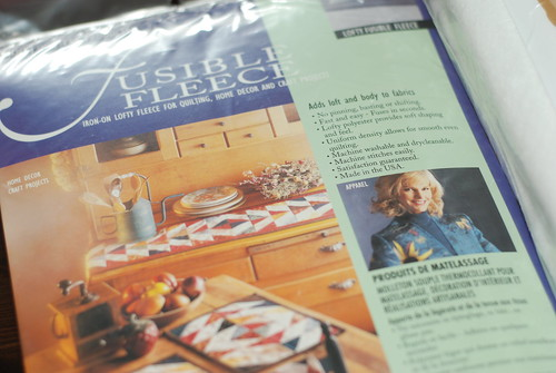 Fusible Fleece by you.
