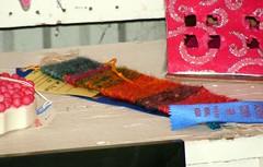 Kai's blue ribbon bookmark
