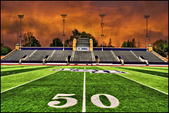 football stadium field 50 yard line - st. thomas university (Dan Anderson.) Tags: sky storm college sports field lines saint minnesota st yard football athletic athletics university thomas stadium stpaul line footballfield twincities 50 saintpaul ust mn turf oshaughnessy universityofstthomas 50yardline tommies stthomasuniversity footballstadiumfield50yardline footballfieldbackground