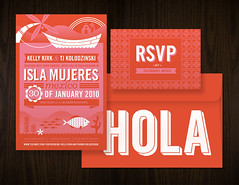 Isla Mujeres Invite Set (Katie Kirk) Tags: wedding wisconsin illustration mexico design invite vector kirk islamujeres rsvp wausau weddinginvite eighthourday katiekirk kellykirk tjkolodzinski