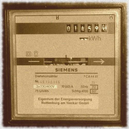 alter Stromzähler