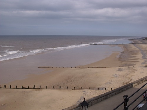 The sea and beach at Cromer