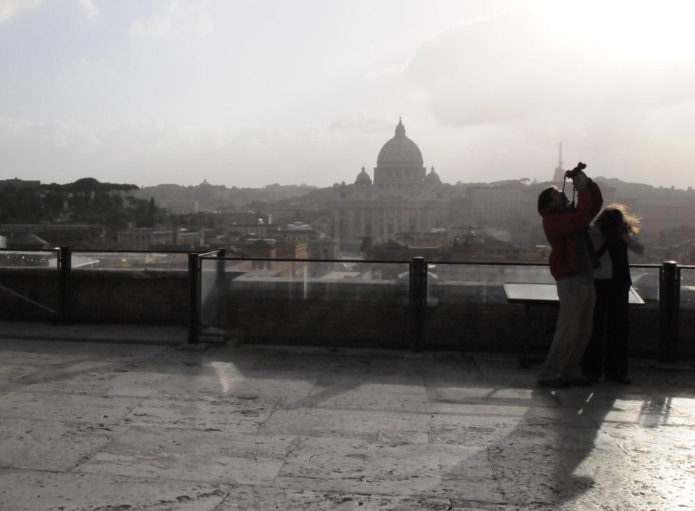 Рим — на крыше замка Sant Angelo