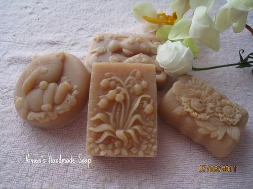 珊瑚紅泥優格乳皂_Art