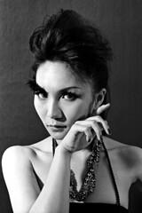 Madi (C.L.I.W) Tags: bw film girl fashion asian blackwhite protrait styling madi nikonfa agfaapx100 nikkor50mmf14ais withoutedit samanthascolorworld