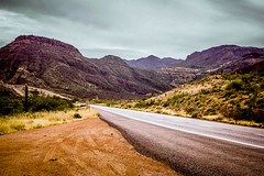 Arizona Highway (Chains of Pace) Tags: road arizona cactus mountains rural landscape highway sony highcontrast