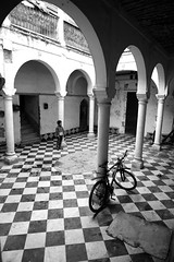 Child in the old Counsel house - Old Rabat, Morocco (M. Khatib) Tags: kids children football soccer oldhouse morocco rabat counselhouse potd:country=menaen