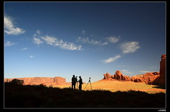 nEO_IMG_IMG_5149 (c0466art) Tags: blue light red sky white color green car yellow clouds canon spectacular landscape rocks view ground national navajo parkcenery
