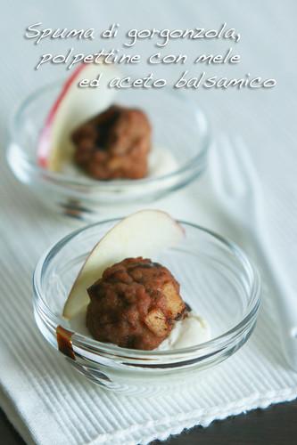 Polpettine e gorgonzola