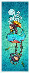 Happy whale (Anita Mejia) Tags: illustration whale ilustracion anitamejia