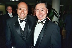 2007 GLAAD Awards: Greg Hernandez and George Takei