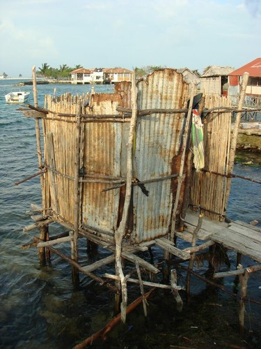 Toilet in village Wichubwala - San Blas Islands - Panama.