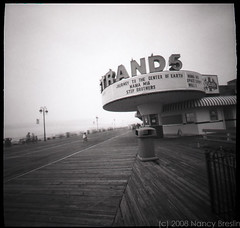 Ocean City, New Jersey, Summer 2008 (squaremeals) Tags: blackandwhite bw beach strand newjersey theater pinhole boardwalk oceancity jerseyshore pinholephotography pinholephotographer
