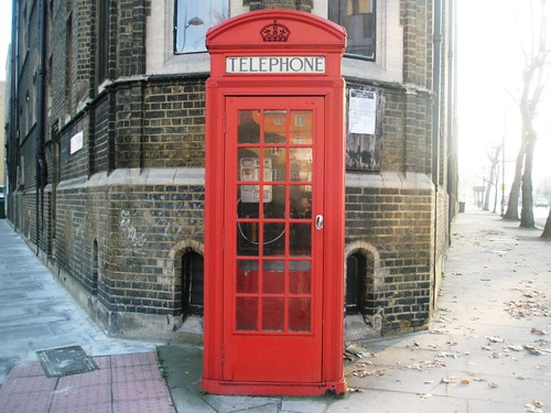 red phone box.