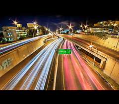 Stars and Stripes (Ryan Eng) Tags: longexposure nightphotography cars hawaii highway oahu overpass onramp headlights freeway honolulu exit dri blending lightstreaks sigma1020mm interestingnesspage explore2 nikond90 ryaneng