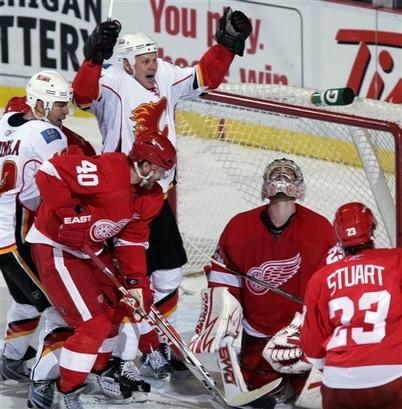 Flames Red Wings Hockey