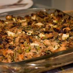 Apple, Sausages and Herbs Stuffing