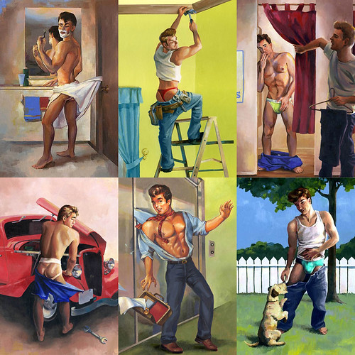 JPG · CHEESECAKE BOY SET, 6 Limited Edition Male Pin-Up Giclee Prints by