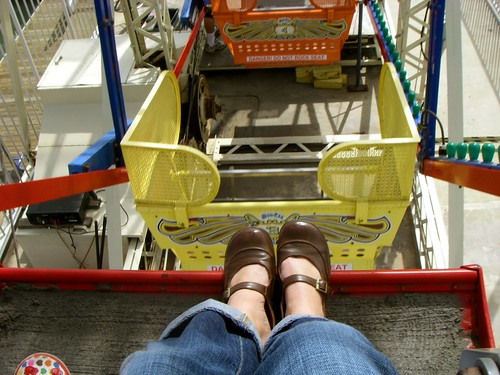 looking down