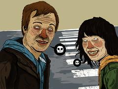 _ (pearpicker.) Tags: illustration digital skull drawing bamboo zombies wacom