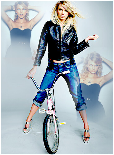 taylor swift with straight hair. Straight Hair / Bike - Taylor Swift. Gorgeous. Comment if you use,