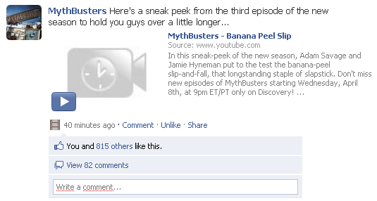MythBusters på Facebook