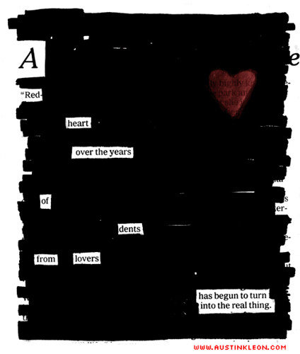 A RED HEART by Austin Kleon, on Flickr