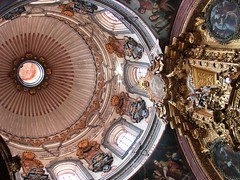 Santa Rosa de Viterbo (fragmento de retablo y cúpula) (arosadocel) Tags: méxico arte iglesia templo querétaro santarosadeviterbo artesacro