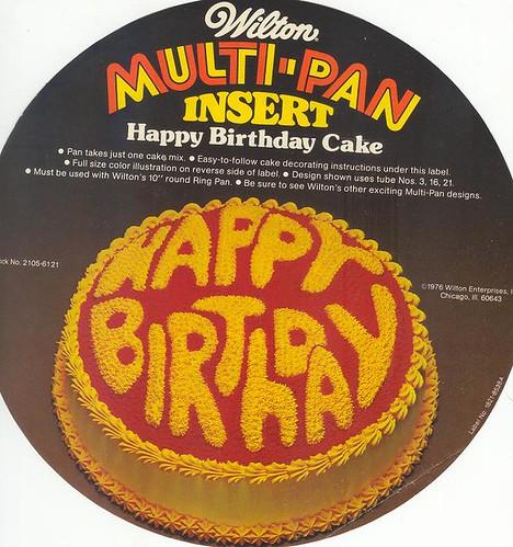 WILTON Cake Pan Happy Birthday 1976