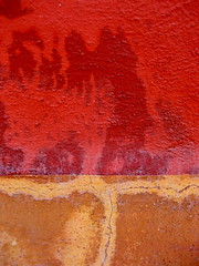 SMA wall detail #18 (msdonnalee) Tags: red muro rot wall rouge pared rojo architecturaldetail  vermelho mura mur rosso parede mauer  rd punainen   walldetail   ifyouseeredshootit  mexicanwall  photosbydonnacleveland murodemxico