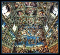 Michelangelo in H.D.R. (R.o.b.e.r.t.o.) Tags: italy vatican bravo italia vaticano roberto hdr italians michelangelobuonarroti cappellasistina giudiziouniversale holidaysvacanzeurlaub bratanesque