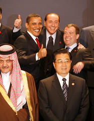 Leaders of the world pose for a group photo