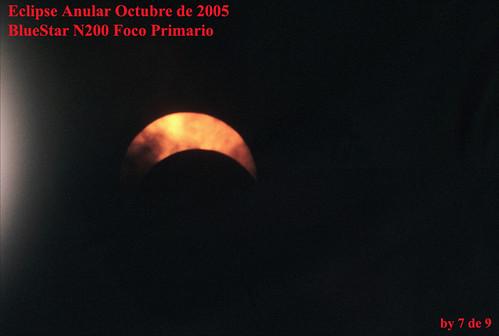El eclipse casi completo. Foto hecha con un filtro de polimeros.