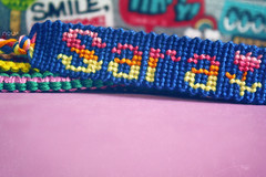 Sara~* (*glow) Tags: sara glow handmade craft cotton bracelet knots handcraft threads 270 starlight knotted nouf freindshipbracelet