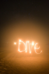 dotDIVE (kin0be) Tags: beach scuba diving lightgraffiti redang terengganu pulauredang