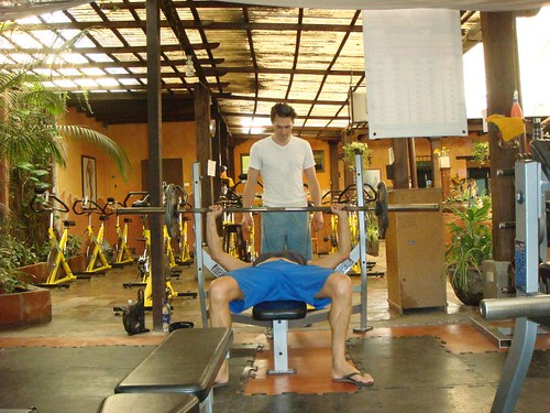 Working out in Antigua Gym...